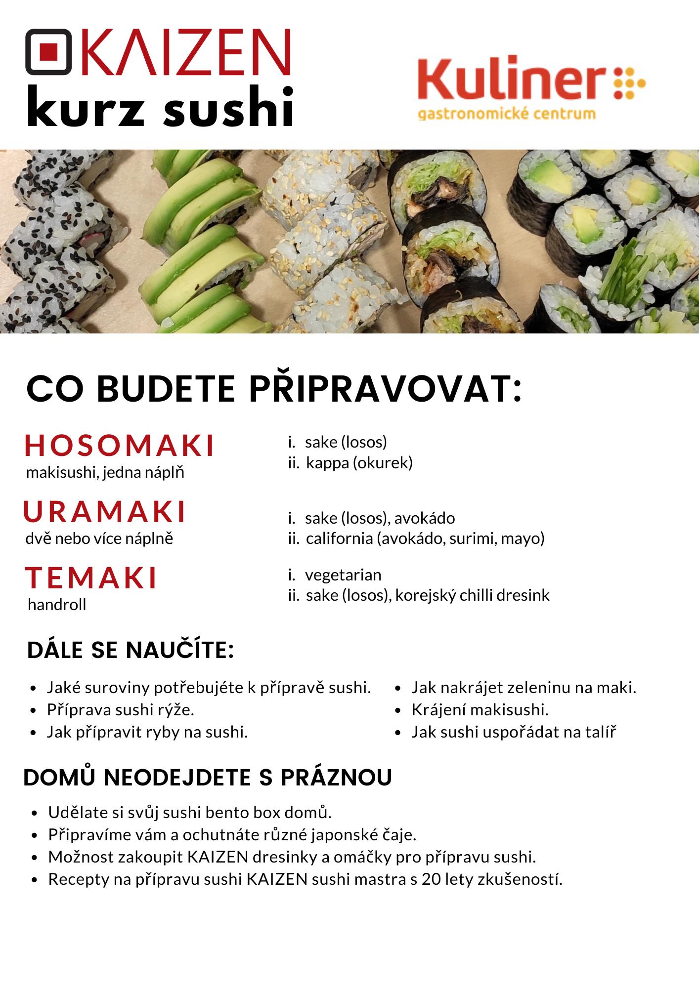 kurz sushi - kuliner